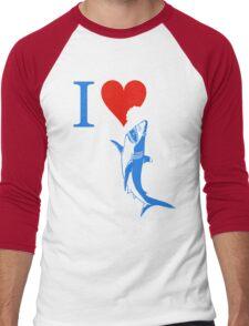 i love shark Men's Baseball ¾ T-Shirt