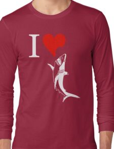 i love shark Long Sleeve T-Shirt