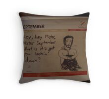 Mister September Throw Pillow