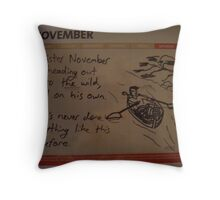 Mister November Throw Pillow
