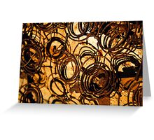 Rusty Old Bed Springs Greeting Card