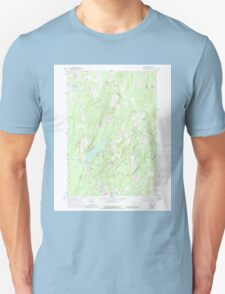 Maine USGS Historical Map Palermo 102857 1961 24000 T-Shirt