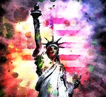 Patriotic Lady of Liberty by morningdance