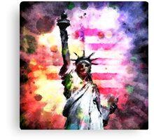 Patriotic Lady of Liberty Canvas Print