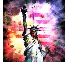 Patriotic Lady of Liberty Photographic Print