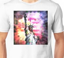 Patriotic Lady of Liberty Unisex T-Shirt