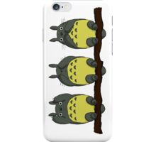 Three Wise Totoros  iPhone Case/Skin