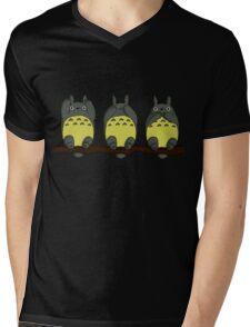 Three Wise Totoros  Mens V-Neck T-Shirt