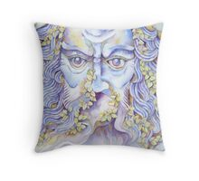 the garden god II - tribute to norman © 2008 patricia vannucci   Throw Pillow
