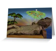 Lizard on holiday Greeting Card
