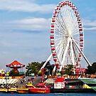 Chicago IL - Ferris Wheel at Navy Pier by Susan Savad