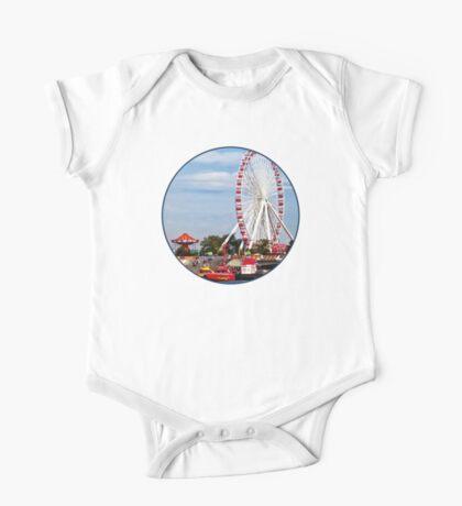 Chicago IL - Ferris Wheel at Navy Pier One Piece - Short Sleeve