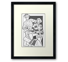 Seamster Chicks Framed Print