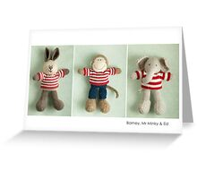 stripey boys Greeting Card
