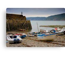 Clovelly Harbour Canvas Print