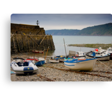 Clovelly Harbour Canvas Print