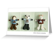 blue & brown Greeting Card