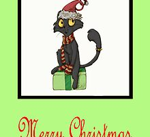 Merry Christmas Cat by Sharon Stevens