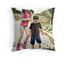 Splash & Me Throw Pillow