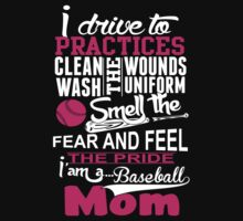 Baseball Mom T-Shirts & Hoodies by Awesome Arts