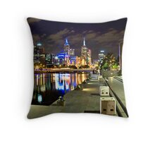 Melbourne Skyline Throw Pillow
