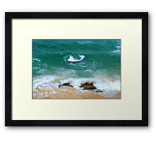 Surf Swirl - Bar Beach NSW Framed Print
