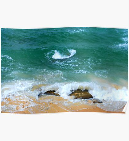Surf Swirl - Bar Beach NSW Poster
