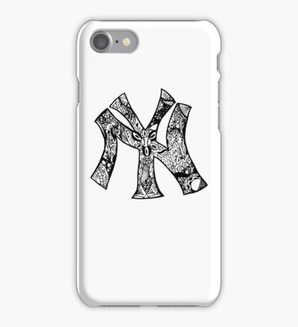 NY Yankees zentangle iPhone Case/Skin