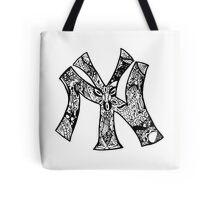 NY Yankees zentangle Tote Bag