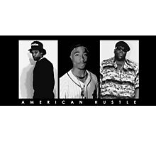 American Hustle (White) Photographic Print