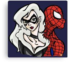 Spider-Man & Black Cat Canvas Print