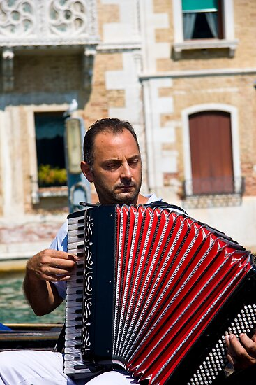 Gondolier Musician by Andre Gascoigne