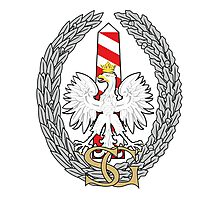 Logo of the Polish Border Guard Force Photographic Print