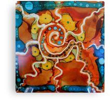 Swirly Swirls Blips & Blops Canvas Print