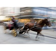 Carriage and Cobblestone Photographic Print