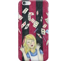 Alice and the pack of cards iPhone Case/Skin