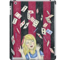 Alice and the pack of cards iPad Case/Skin