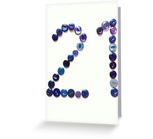 Twenty-one Greeting Card