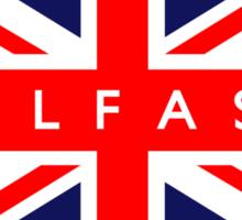 Belfast UK Flag Sticker