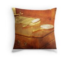 When Mama Brushed Her Hair (photo and poem) Throw Pillow