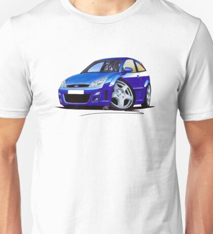 Ford Focus RS Blue Unisex T-Shirt