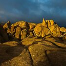 Sunrise Joshua Tree Jumbo Rocks by photosbyflood