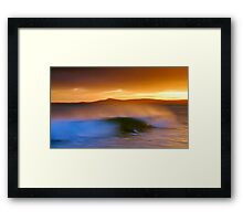 Slow Roller Framed Print