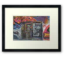 Graffiti Dogs Framed Print