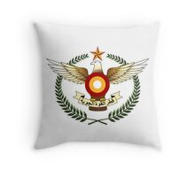 Qatar Air Force Emblem Throw Pillow