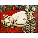 cats by bunnyknitter