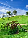 Old agricultural machinery in a field by GrahamCSmith