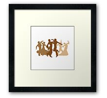 Flamenco Dancers Illustration  Framed Print
