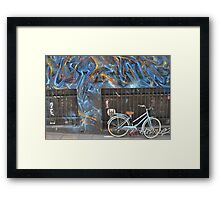 Graffiti Bicycle Framed Print