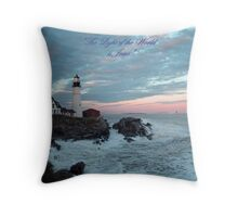 The Light of the World is Jesus, 600 views! Throw Pillow